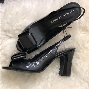 Chinese Laundry Black Pumps with bow